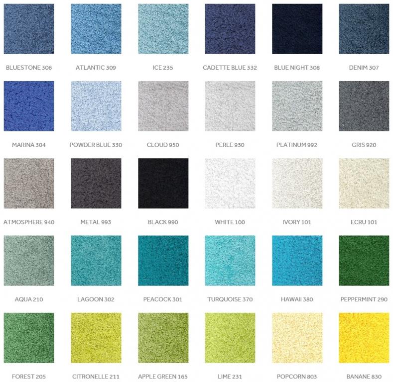 barvy ručníků