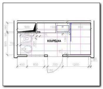 koupelna v bytovém domě - projekt