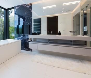koupelny minimalistické
