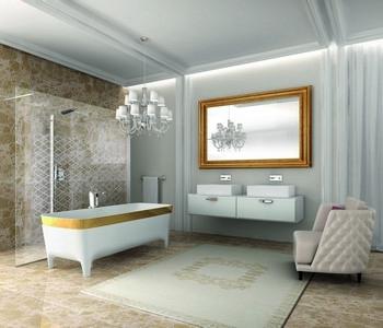 prolínání stylů v koupelně