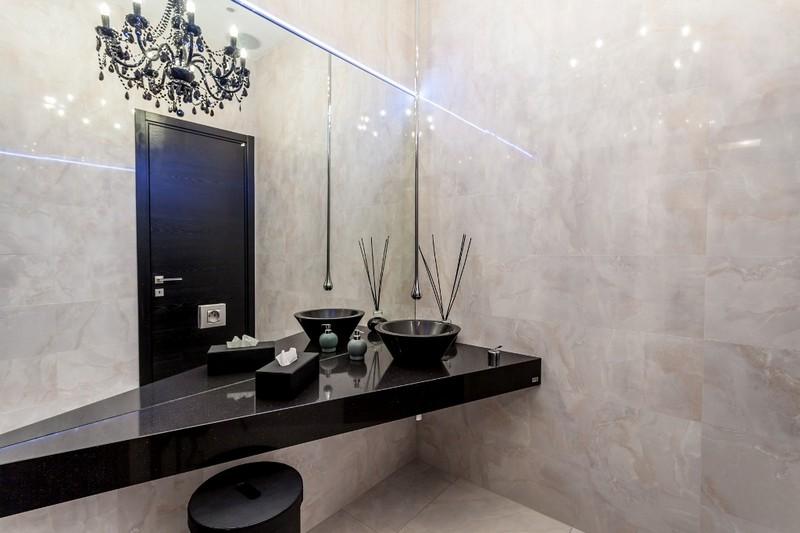 luxusní koupelny glamur