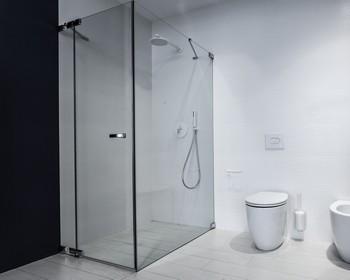 sprchový kout bezrámový