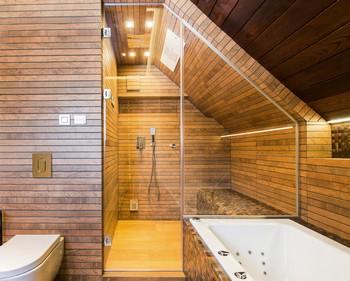 parní kabina se sprchovým koutem